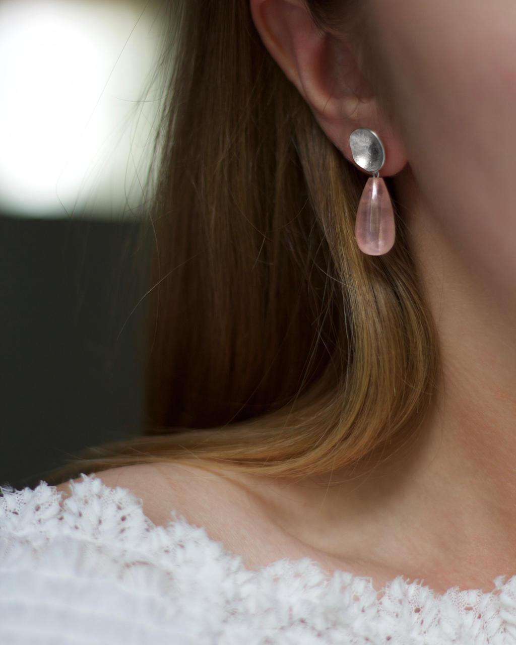 316d80dda53 Kõrvarõngad Anni roosa kvartsiga HLG-33 – Krunnipea
